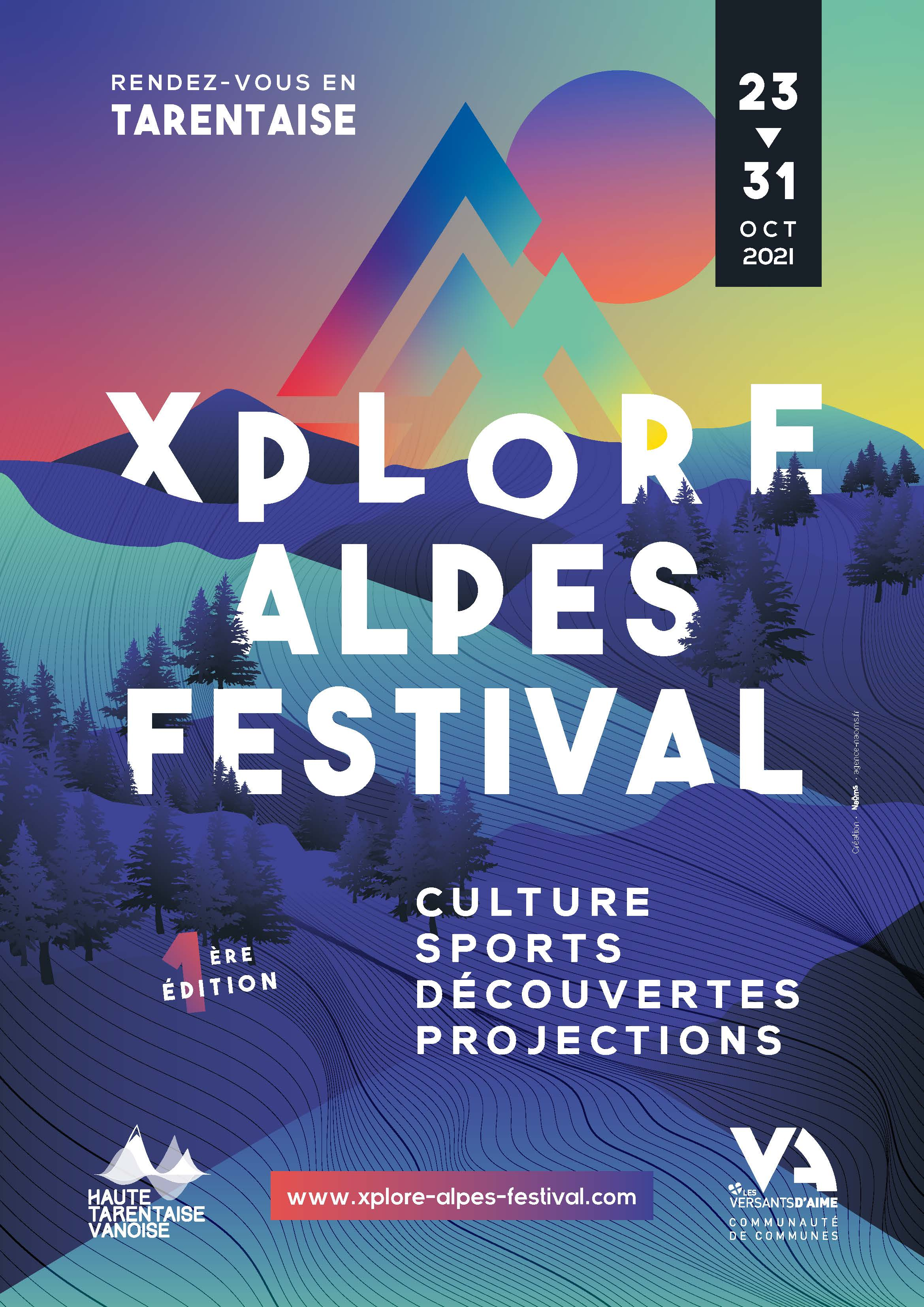 Affiche Xplore Alpes Festival