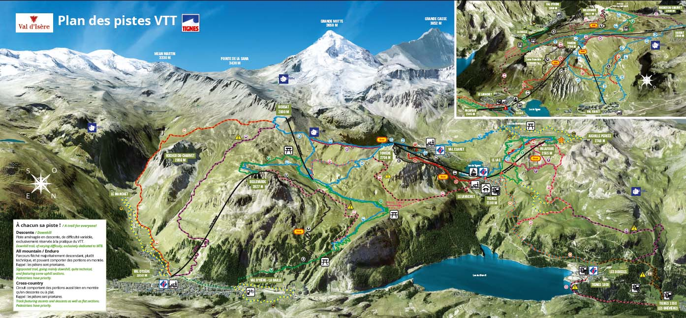 Mountain biking trails Tignes Summer activities in French mountain
