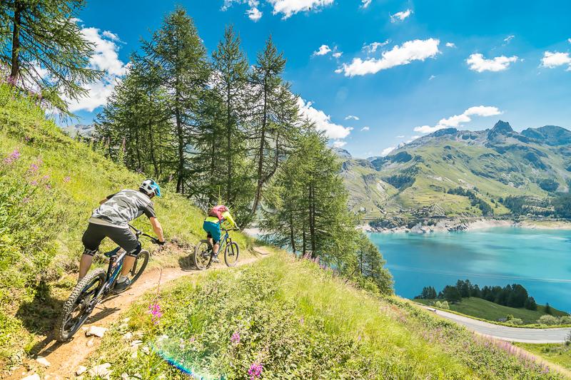 Mountain Biking Holidays Tignes our bike park and mountain biking