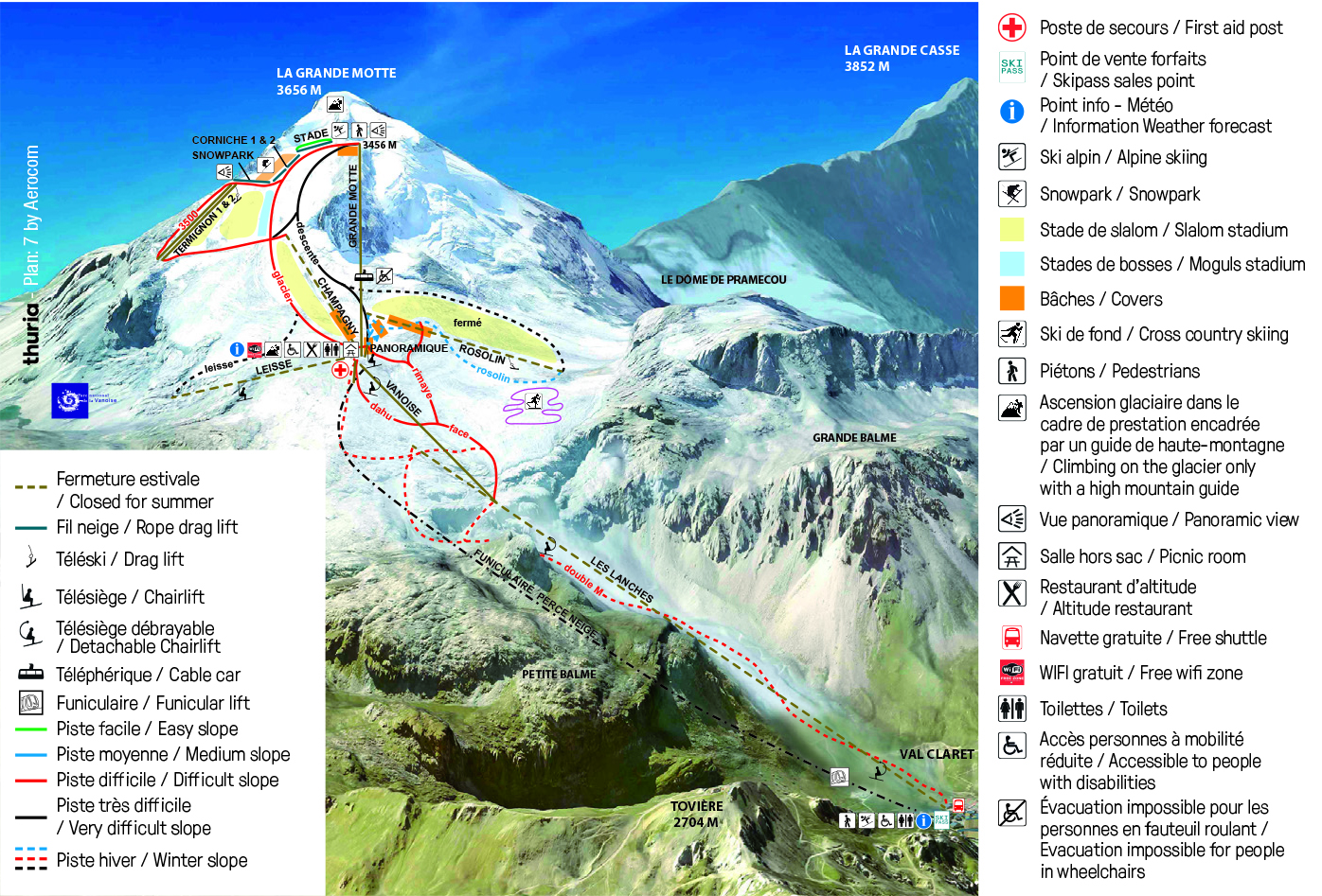 Summer Skiing France In The Alps Tignes The Glacier Skiing During