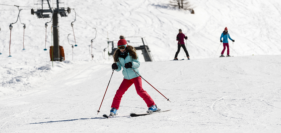 Learning to ski in spring: a great idea!