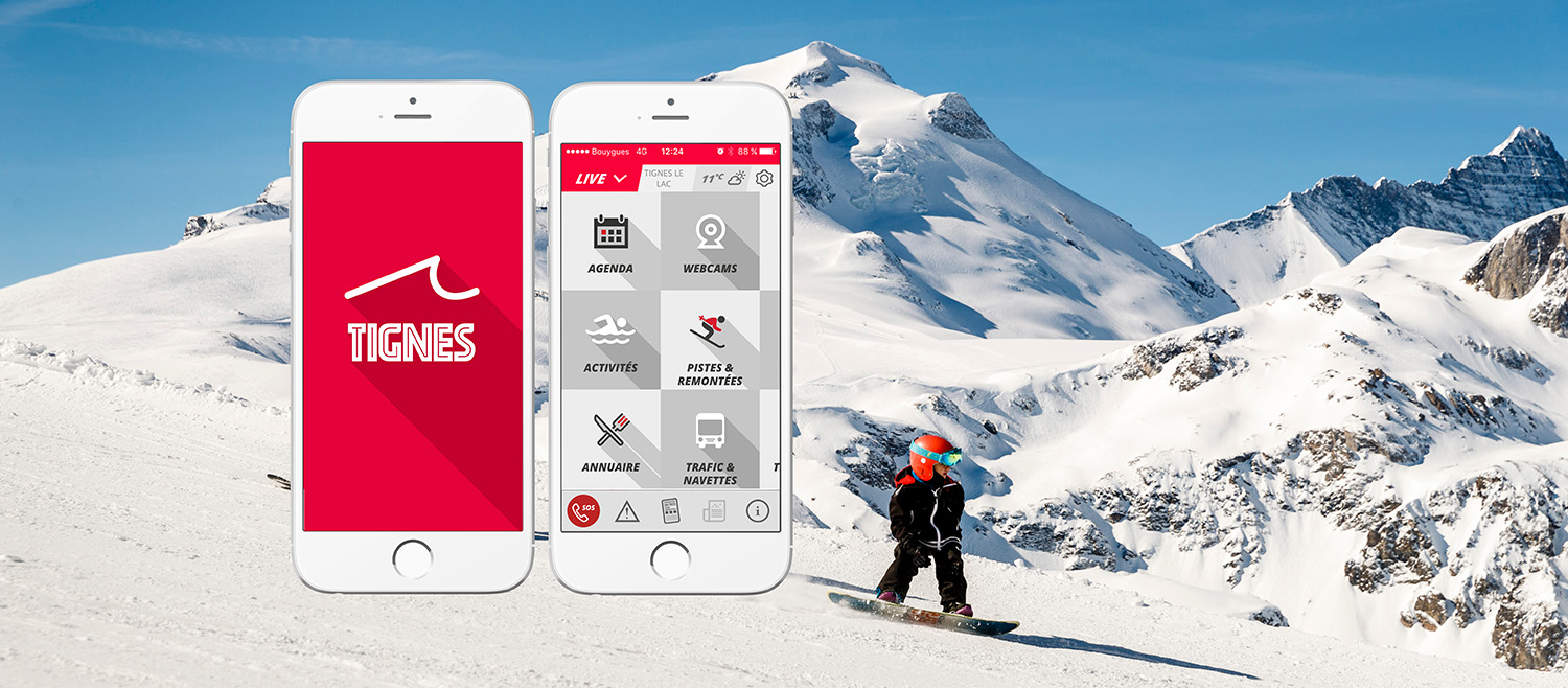 mobile apps tignes - download our mobile app for your ski holiday in